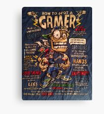 Funny Gaming T-shirt Canvas Print