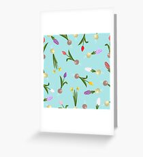 spring background sweet seamless flovers pattern Greeting Card