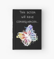 life is strange watercolour butterfly Hardcover Journal