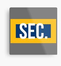 SEC. Metal Print