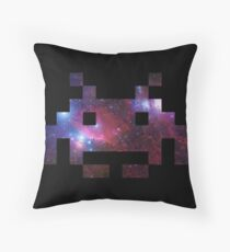 Space Invading Throw Pillow
