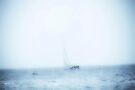 Sailing in a sea fog by missmoneypenny