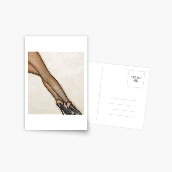 Saturday Night Stockings Postcard