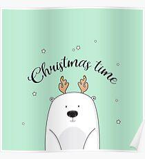 Christmas bear Poster