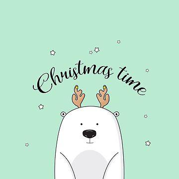 Christmas bear by Milatoo