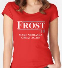Frost '18 - Make Nebraska Great Again - scott frost shirt Women's Fitted Scoop T-Shirt