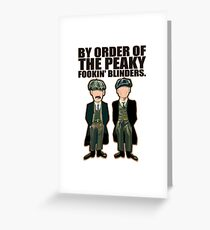 Peaky Blinders , Thomas and Arthur Greeting Card