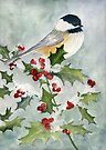 Christmas Beauty, Black-capped Chickadee by Diane Hall