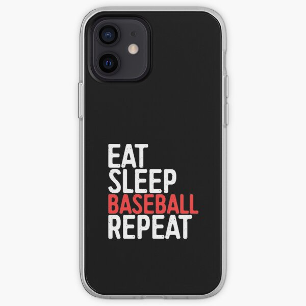 Eat Sleep Baseball Repeat iPhone Soft Case