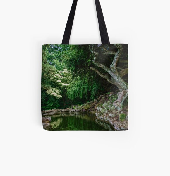 Twisted Trees All Over Print Tote Bag