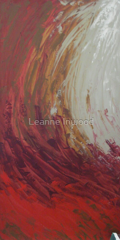 paint on fire by Leanne Inwood