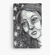Star Girl Canvas Print