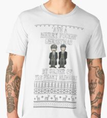 'Ave a merry fuckin' christmas by order of the peaky blinders Men's Premium T-Shirt