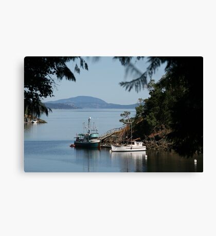 View from Butchart Gardens Canvas Print