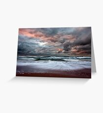 Stormy Skies of Inverness Beach Nova Scotia  Greeting Card