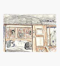 Robert Asleep on the Venice-Simplon Orient Express Photographic Print