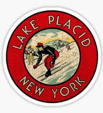 Lake Placid New York vintage decal USA Sticker