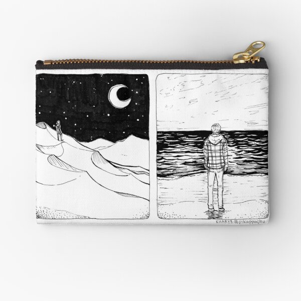 """is everything i know truly the sea or is it a blue desert?"" Zipper Pouch"