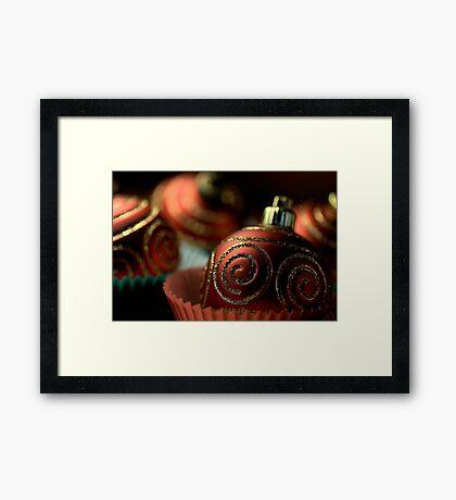 Christmas Bauble Cupcakes Framed Print