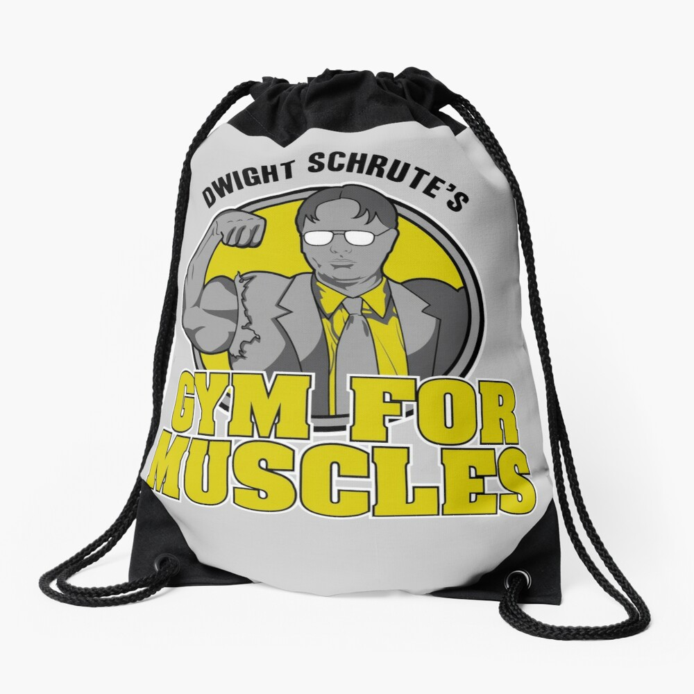 Dwight Schrute's Gym for Muscles Drawstring Bag