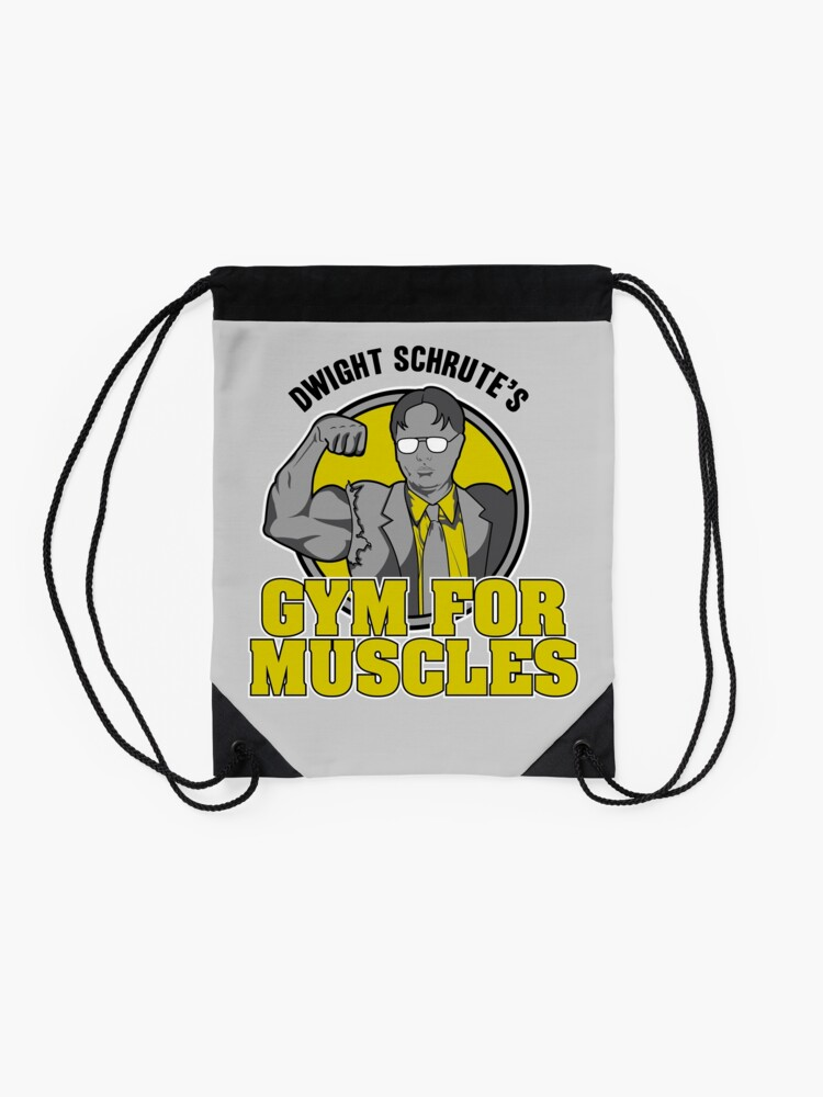 Alternate view of Dwight Schrute's Gym for Muscles Drawstring Bag