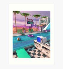 Lámina artística Piscina Oasis de los 80