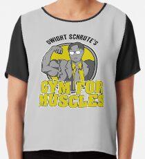Gym de Dwight Schrute pour les muscles Top mousseline