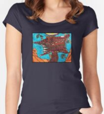Dojo Squirrel by Grace Women's Fitted Scoop T-Shirt