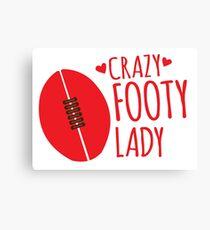 Crazy Footy Lady Canvas Print