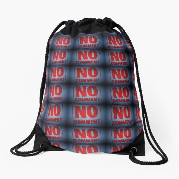 """Tony DuPuis """"No Comment""""  Drawstring Bag"""