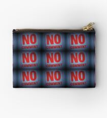 "Tony DuPuis ""No Comment""  Zipper Pouch"