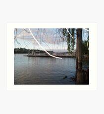 Mannum Ferry. Art Print