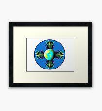 Earth Logo for Sale Framed Print