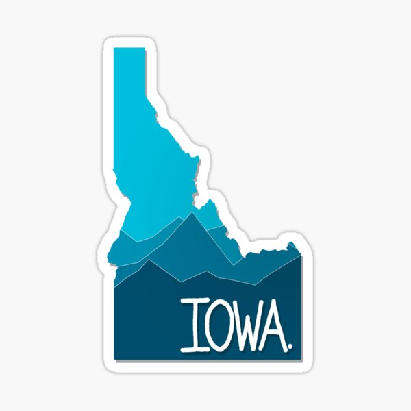 Iowa Idaho  Sticker