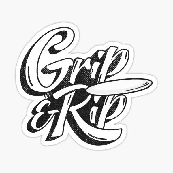 Grip & Rip Disc Golf Sticker