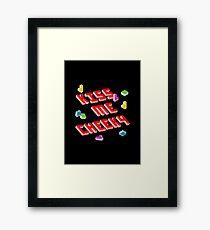 Kiss Me, Cheeky (Tetris) Framed Print
