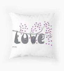 Sloth Love Print Throw Pillow