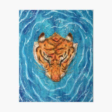 Tigress River Art Board Print