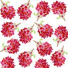 Bougainvillea  Pattern by marlene veronique holdsworth