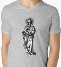 Dia de los Muertos Madonna and child Men's V-Neck T-Shirt