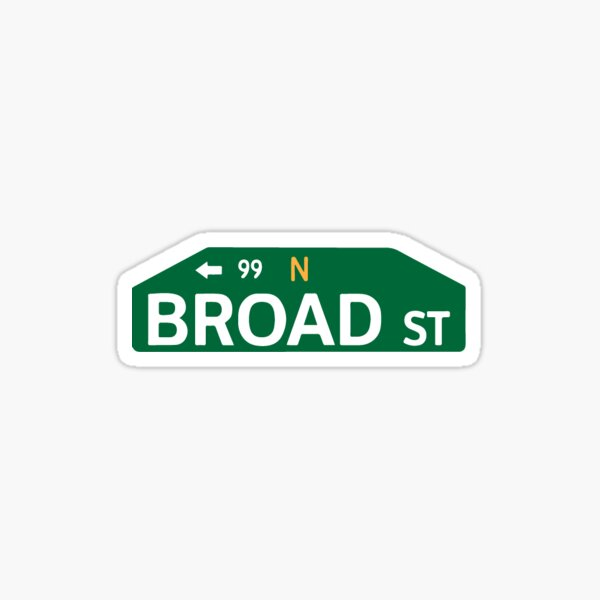 Broad Street Sticker