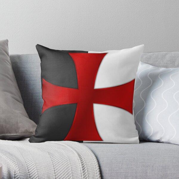 Templar Flag Throw Pillow