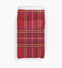 Royal Stewart Tartan Christmas Pattern Duvet Cover