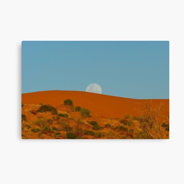 Big Red Moonrise Sunset Canvas Print
