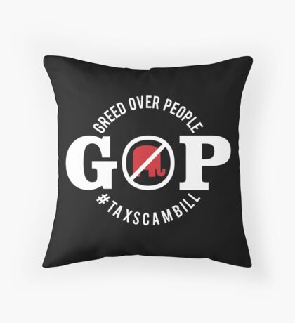GOP Greed Over People Floor Pillow