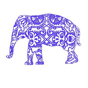 Cute Blue Elephant Gift for Women, Men, Girls & Boys - Vintage Design by ClineProducts