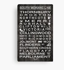 Sth Morang Line Canvas Print