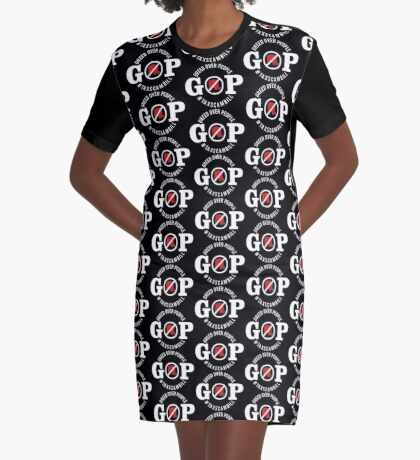 GOP Greed Over People Graphic T-Shirt Dress