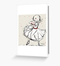 Dance With Love Illustration Greeting Card