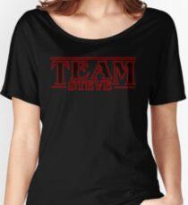 Stranger Things Team Steve Design Women's Relaxed Fit T-Shirt
